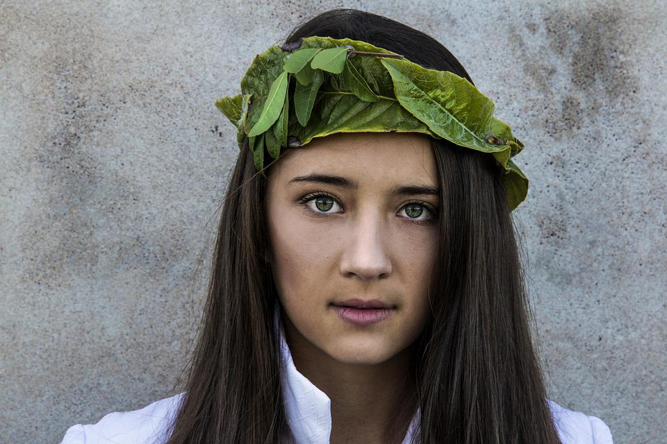 Crown, Nature, Outdoor, Portrait, Fantasy, Woman