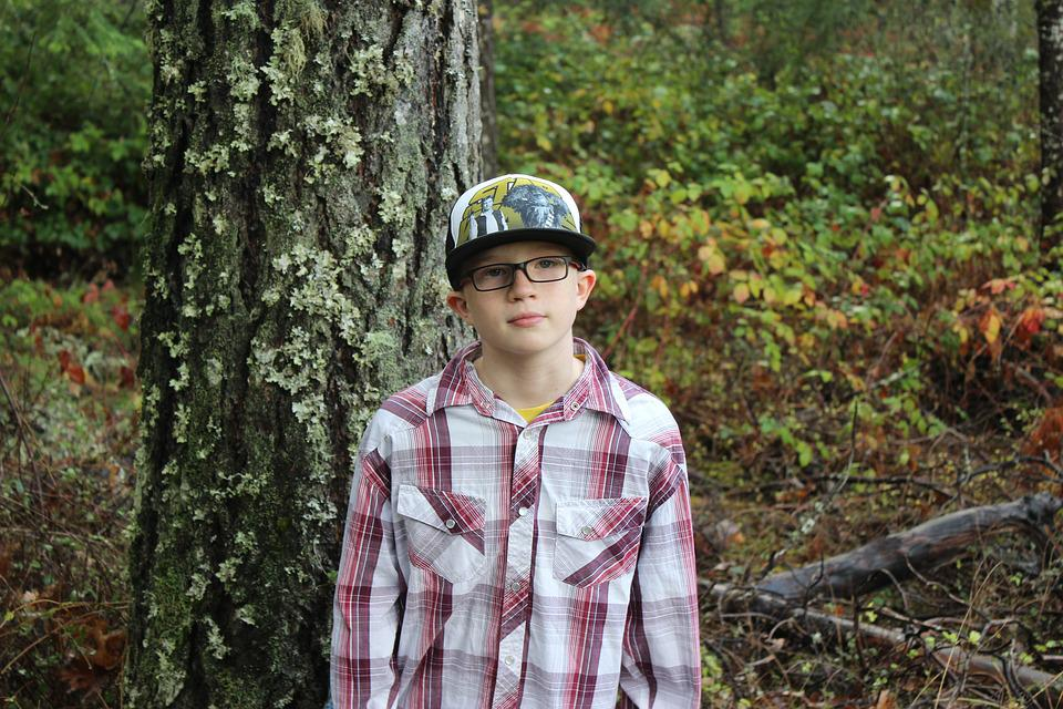 Outdoors, People, Portrait, Boy, Hat, Woodland, Cap