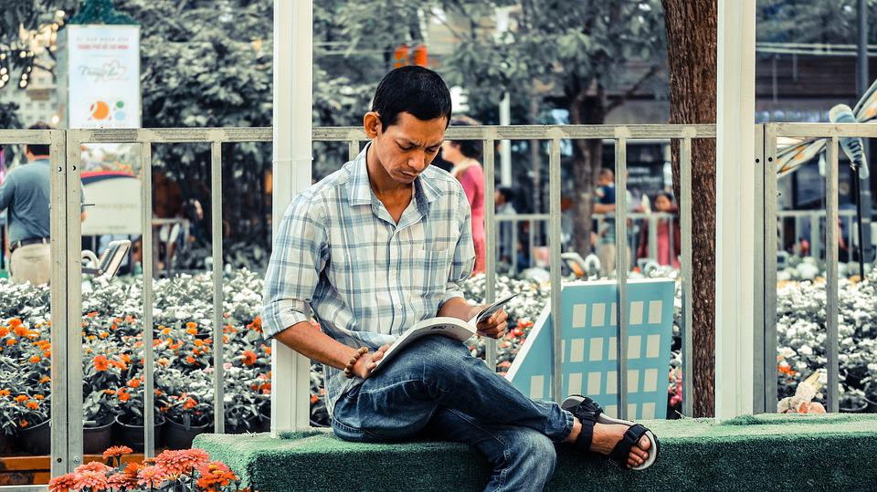 Reading, Portrait, Books, Read, People