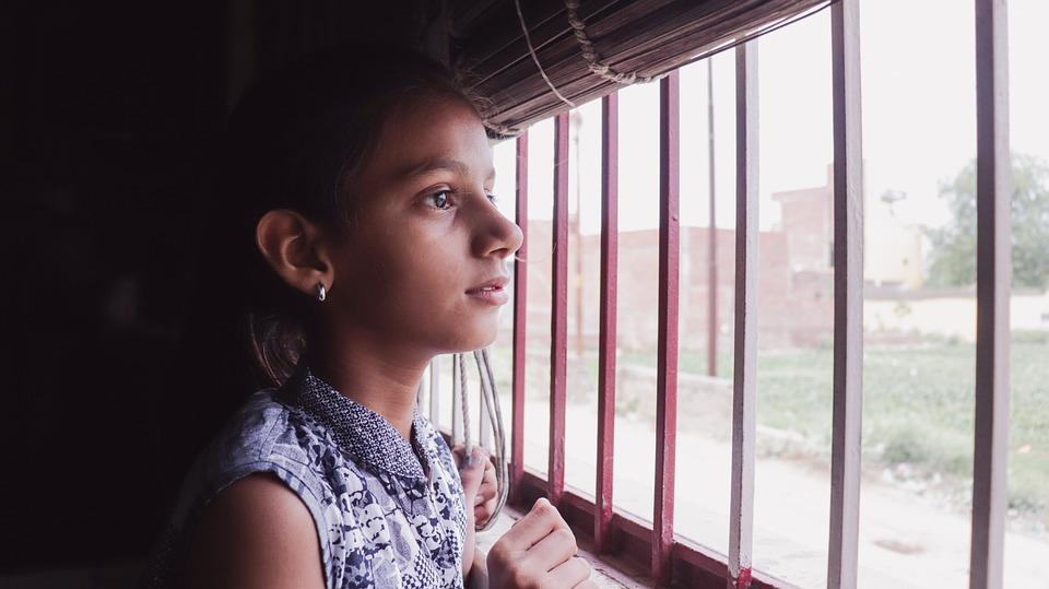 Girl, Window, Woman, People, Portrait, Young, Glass