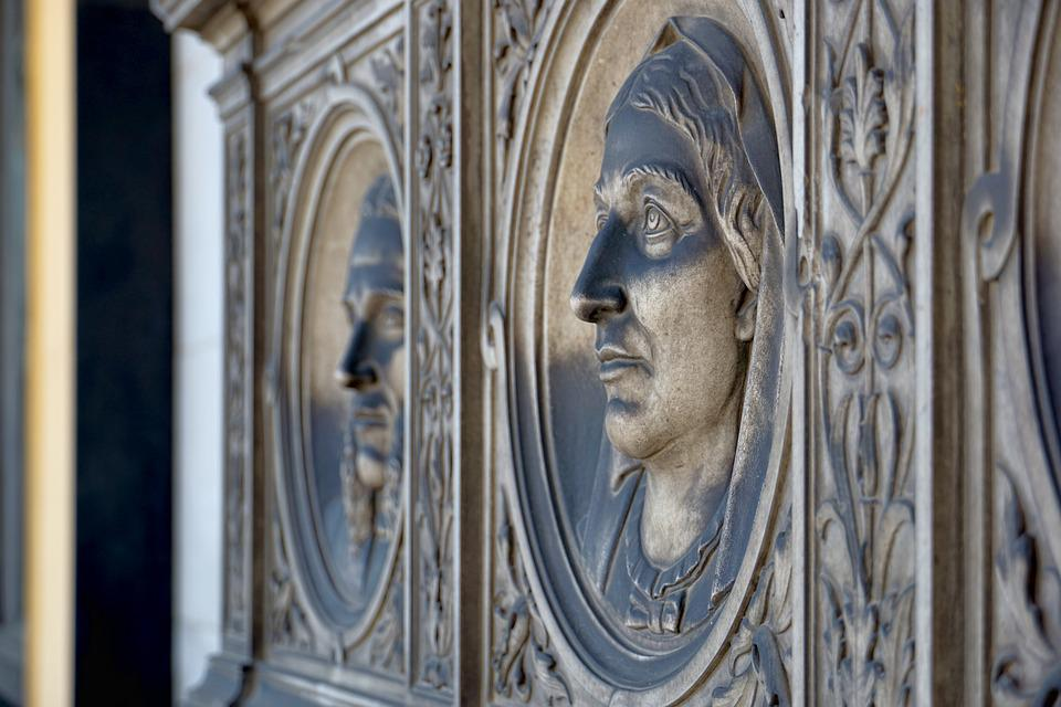 Relief, Portrait, Ornament, Stone, Structure