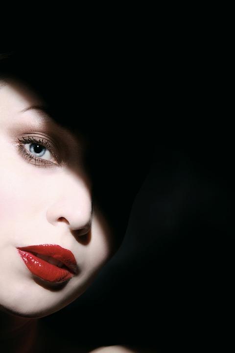 Woman, Shadow, Face, Portrait, Model, People, Dark