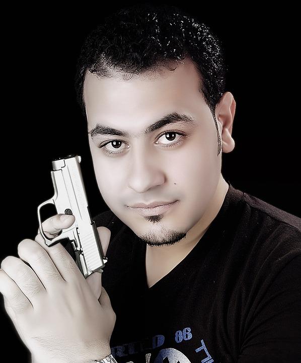 Man, Person, Gun, Portrait, Character, Weapon, Shoot