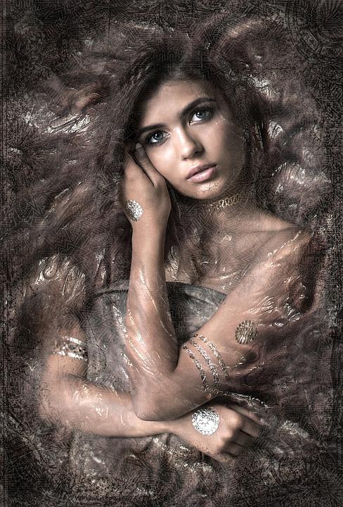 Portrait, Woman, Pretty, Composing, Fantasy, Structure