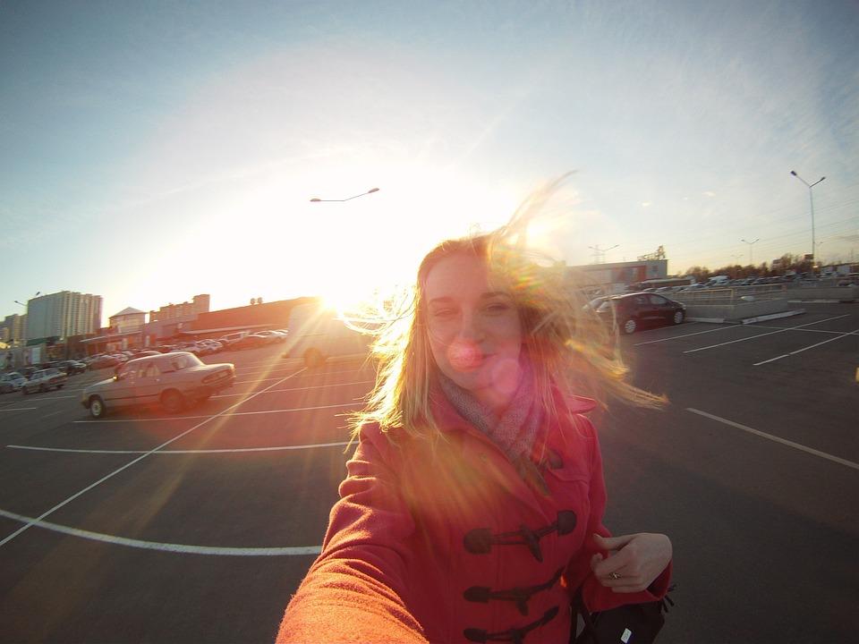 Girl, Blonde, Portrait, Selfie, Sunlight, Moscow
