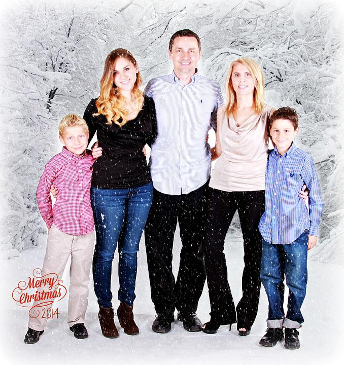 Family, Winter, Portrait, Together, Happiness, Holiday