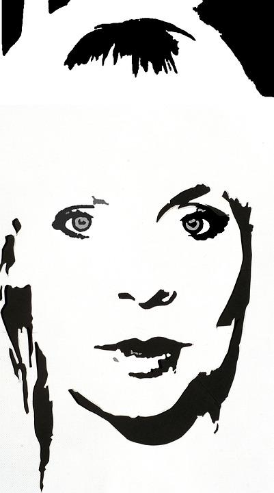 Woman, Portrait, Monochrome, Edit