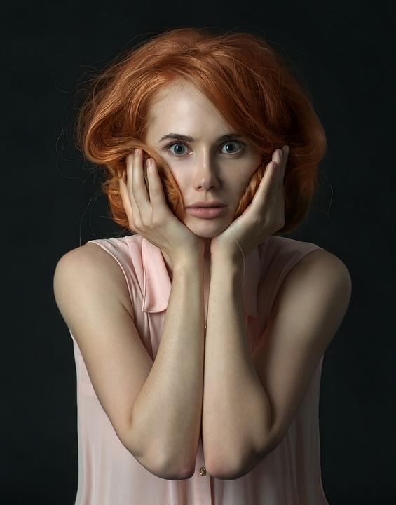 Woman, Surprised, Portrait, Girl, Shock, Face