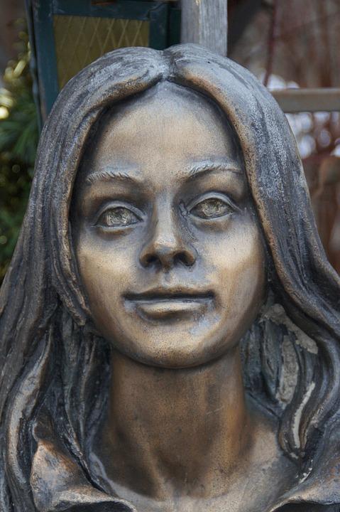 Portrait, Sculpture, Girl, Person, Young Woman, Woman