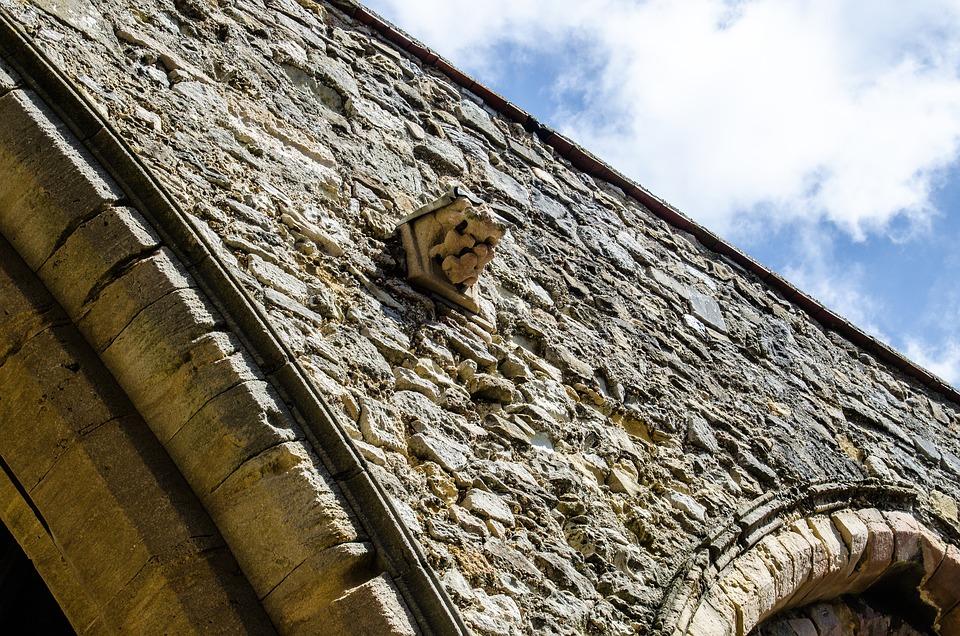 Portsmouth, City Wall, Stones, England, Stone Wall