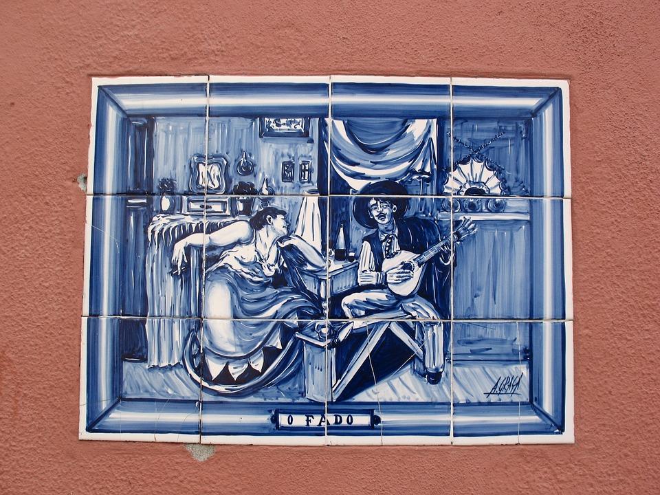 Ceramics, Painting, Portugal, Tile, Fado, Dance