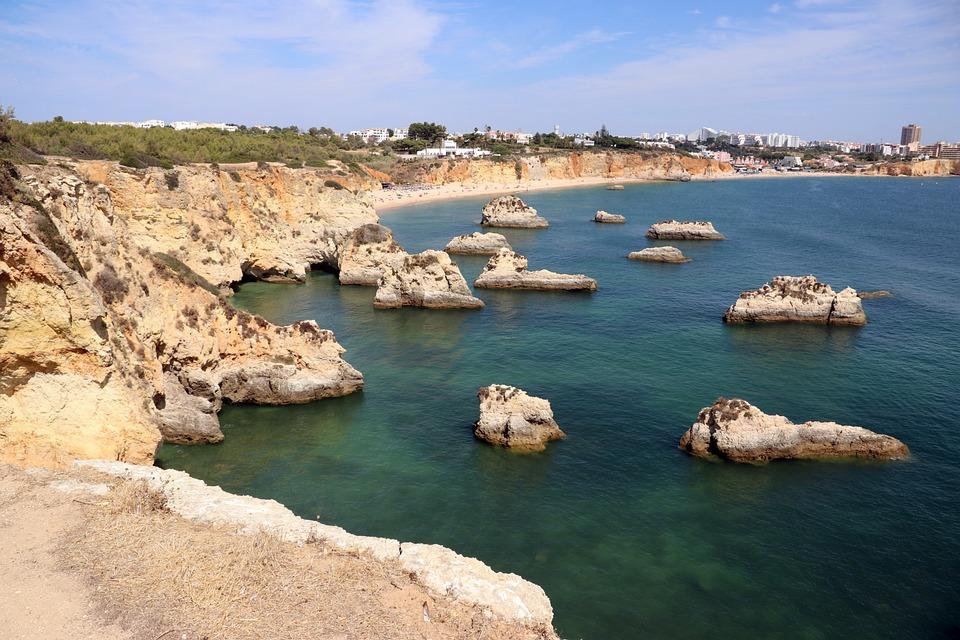 Algarve, Portugal, Lagos, Coastline, Mediterranean