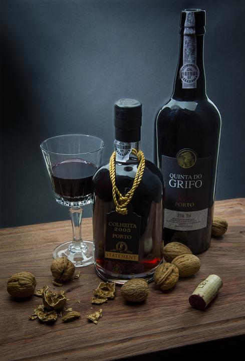 Port Wine, Porto, Wine, Nuts, Dark, Portugal, Blue Wine