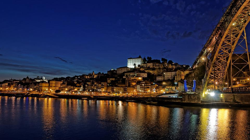 Porto, Portugal, Douro, Old Town, Historically, Evening