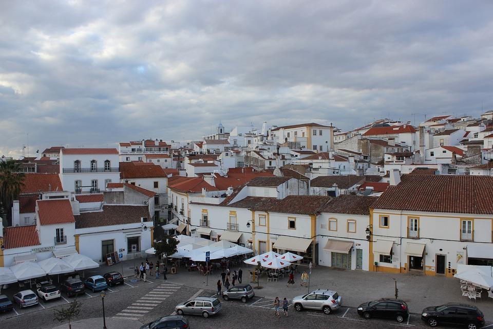 Evora, Portugal, City, Architecture, Sky, Old, Building