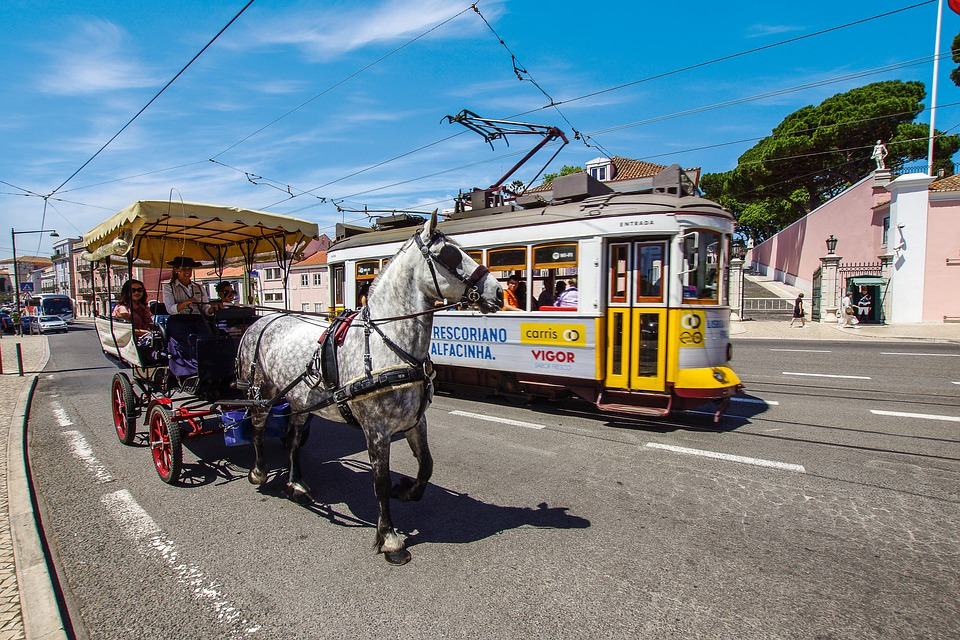 Lisbon, Tram, Portugal, Historic Center, Transport