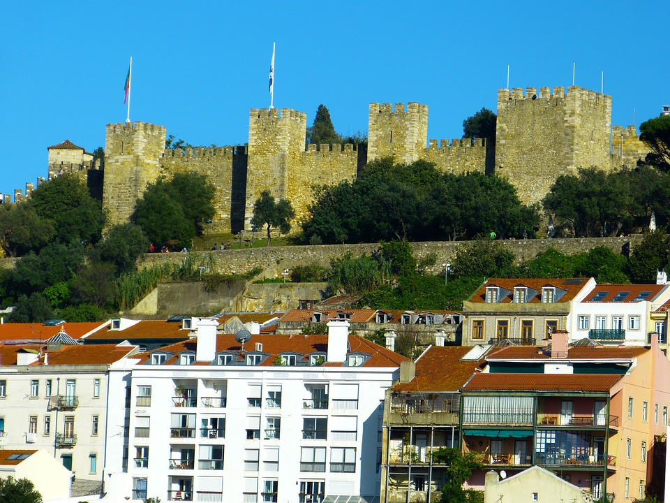 Lisbon, Lisboa, Portugal, Castle, Fortress, Tower