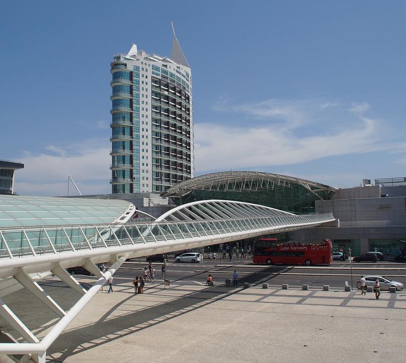 Portugal, Lisbon, Expo98, Skyscraper, Bridge