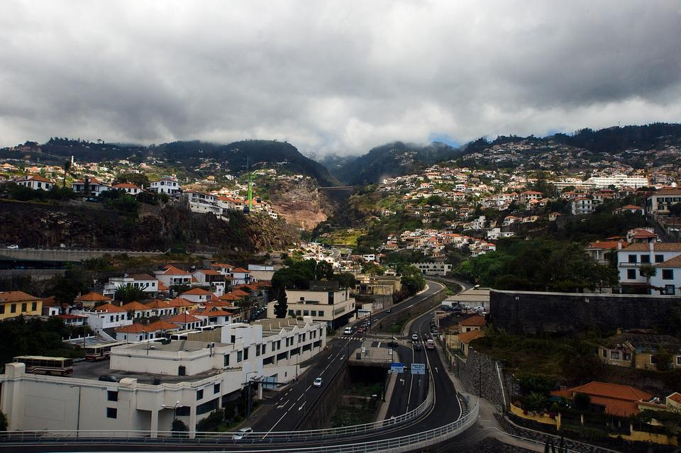Madeira, Funchal, Portugal, Panorama, City