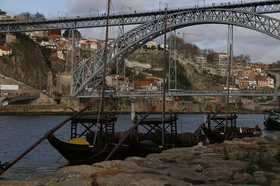 Bridge, Porto, Vessel, River Douro, Portugal, Boat
