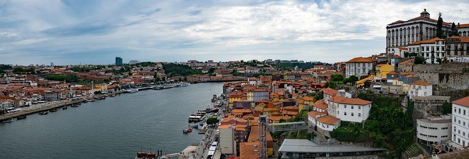 Panorama, Porto, Portugal, City, Duero, River
