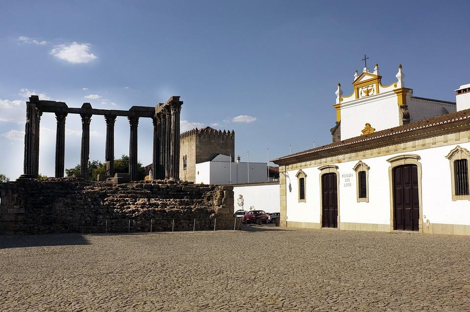 Portugal, Evora, Roman Temple, Ruins, Archaeology