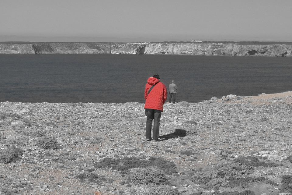 Sea, Edge Of The Sea, Algarve, Human, Portugal