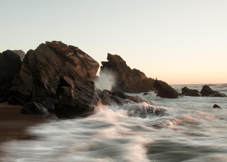 Wave, Rocks, Ocean, Sintra, Portugal, Sea, Atlantic