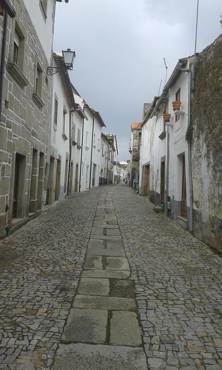 Portugal, Miranda Do Douro, Street, Holiday, Stones