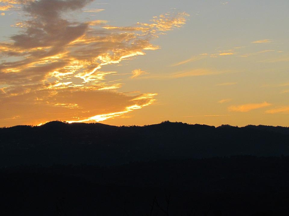Portugal, Terras De Basto, Sol, Sunset, Color, Light