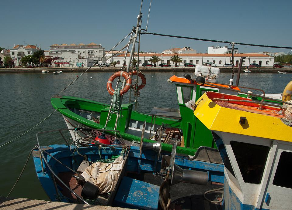 Portugal, Tavira, Port, Fishing Boats