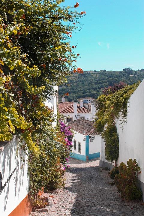Travel, Portugal, Village, Town, Obidos, Castle, Walls