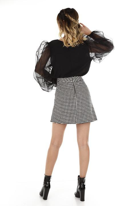 Skirt, Fashion, Clothes, Woman, Young, Model, Pose