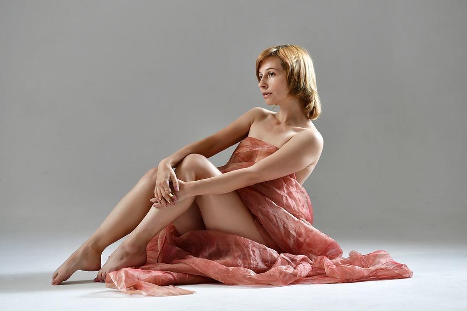 Fabric, Legs, Model, Studio, Posing, Posture
