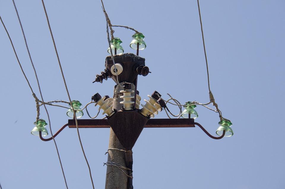 Post, Wire, Insulators, Electricity
