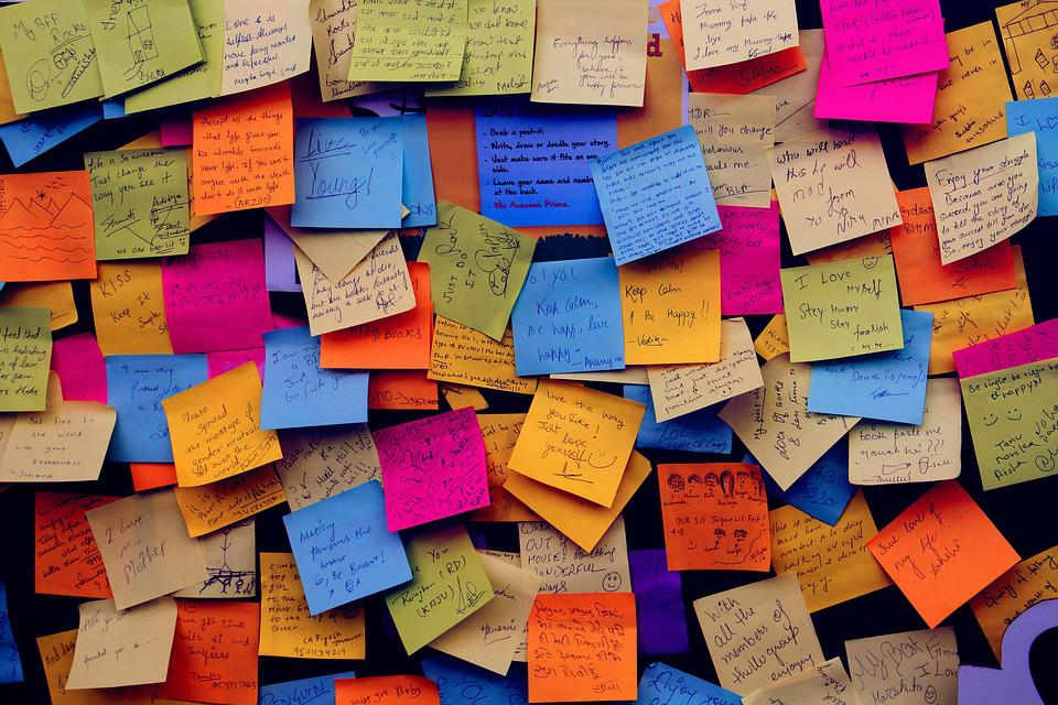 Post It Notes, Sticky Notes, Note, Notice Board