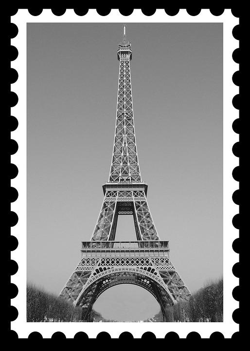 Eiffel Tower, Postage, Postage Stamp, Eiffel, Paris