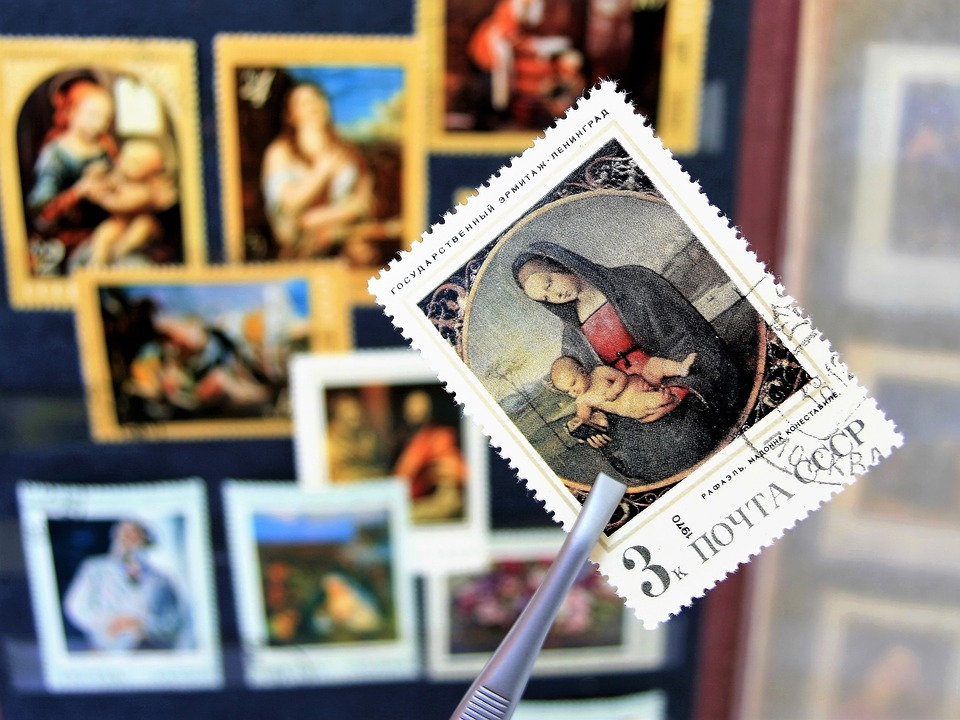 Madonna, Postage Stamps, Painting, Religious, Cccp