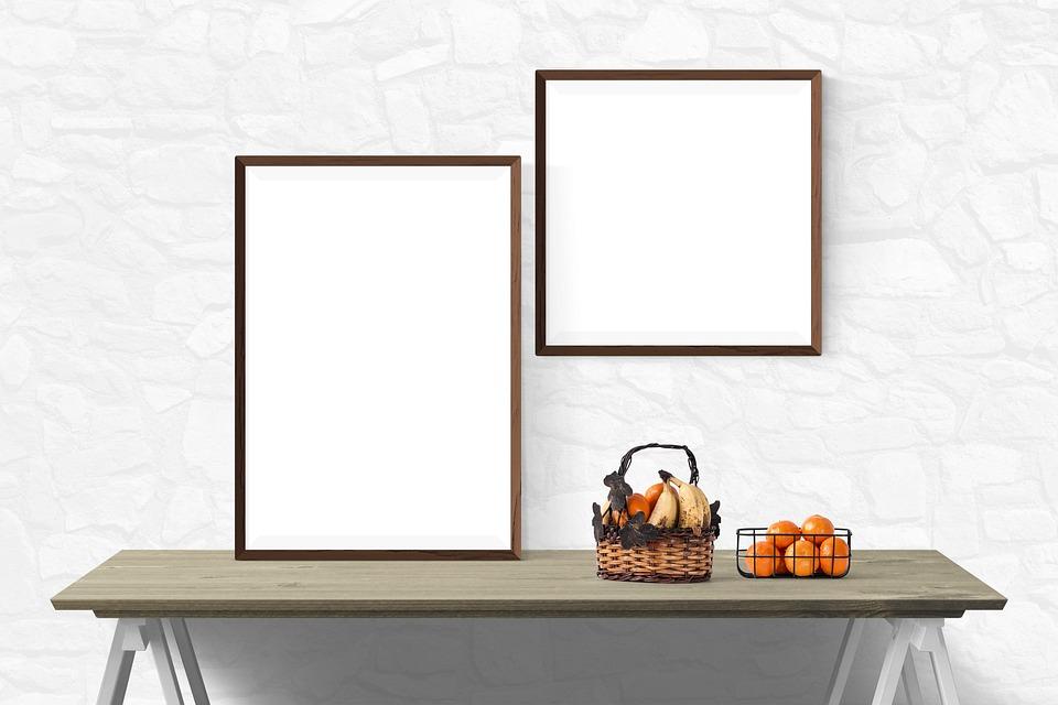 free photo poster presentation wall mockup template desk - max pixel, Presentation templates