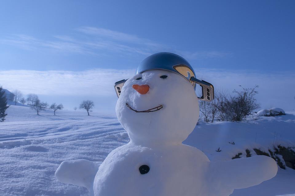 Snow Man, Snow, Man, Nose, Carrot, Pot, Hat, Winter
