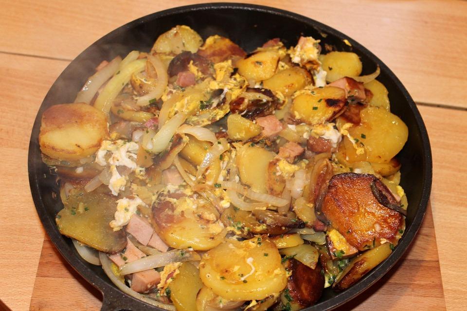 Fried Potatoes, Eat, Potato, Meal
