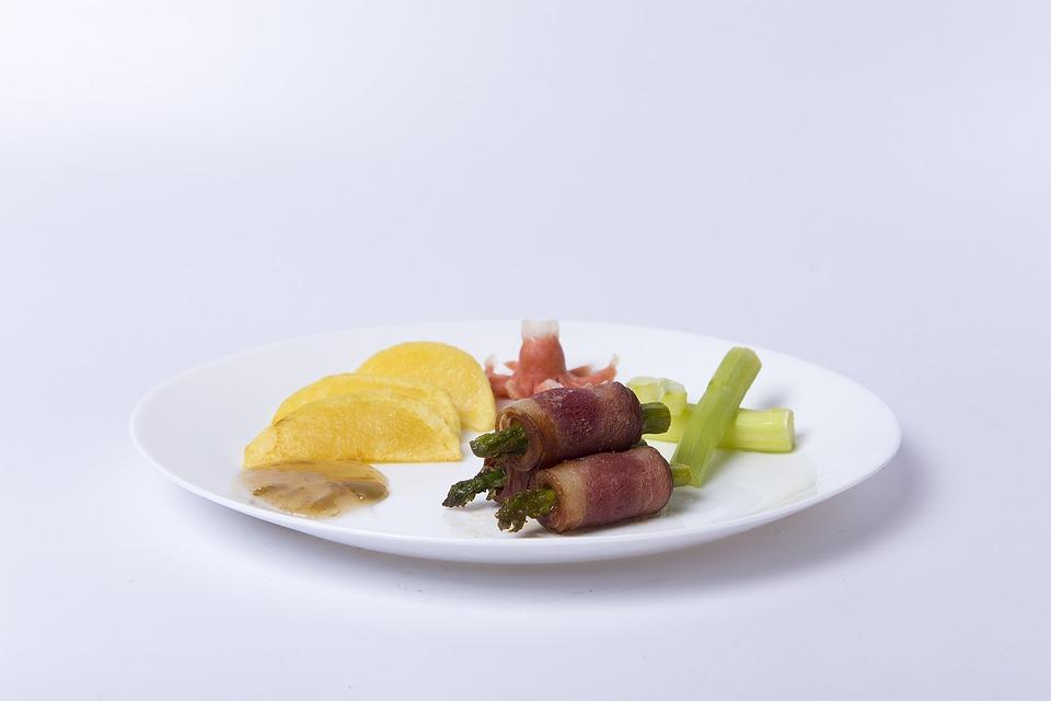 Meals, Bacon, Potato, Food, Asparagus, Plate