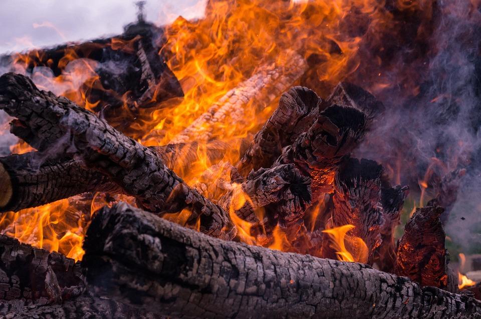 Fire, Hot, Wood, Beech Wood, Potato Fire, Potato Roast