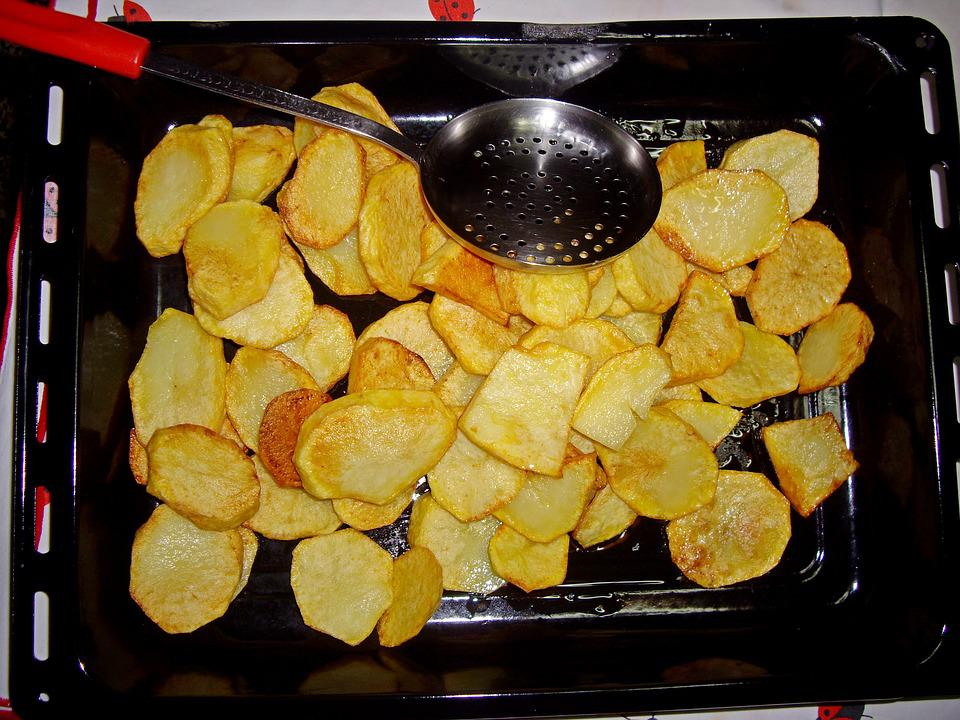 Baked Fries, Potatoes, Food