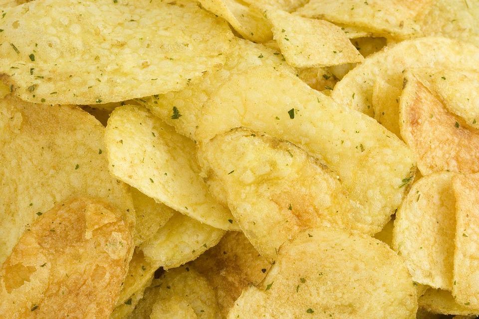 Crisps, Yellow, Background, Salt, Salty, Potatoes, Oil