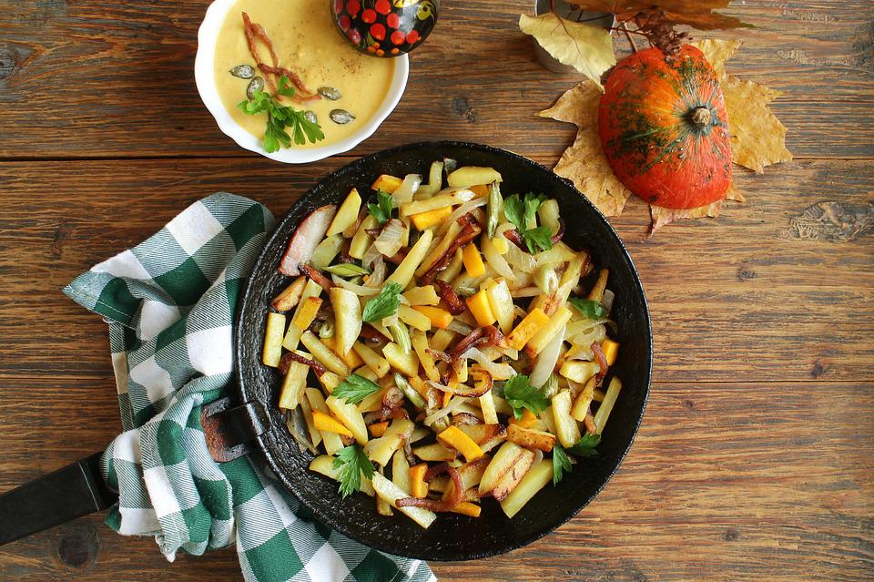 Potatoes With Vegetables, Fried Potatoes