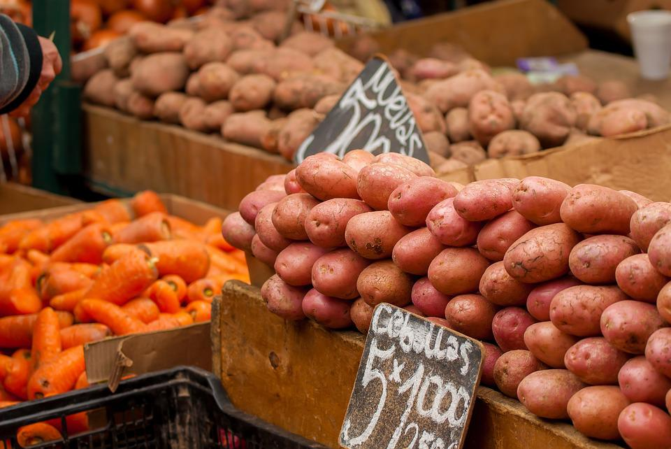 Potatos, Carrots, Vegetables, Fruit, Vegetable, Market