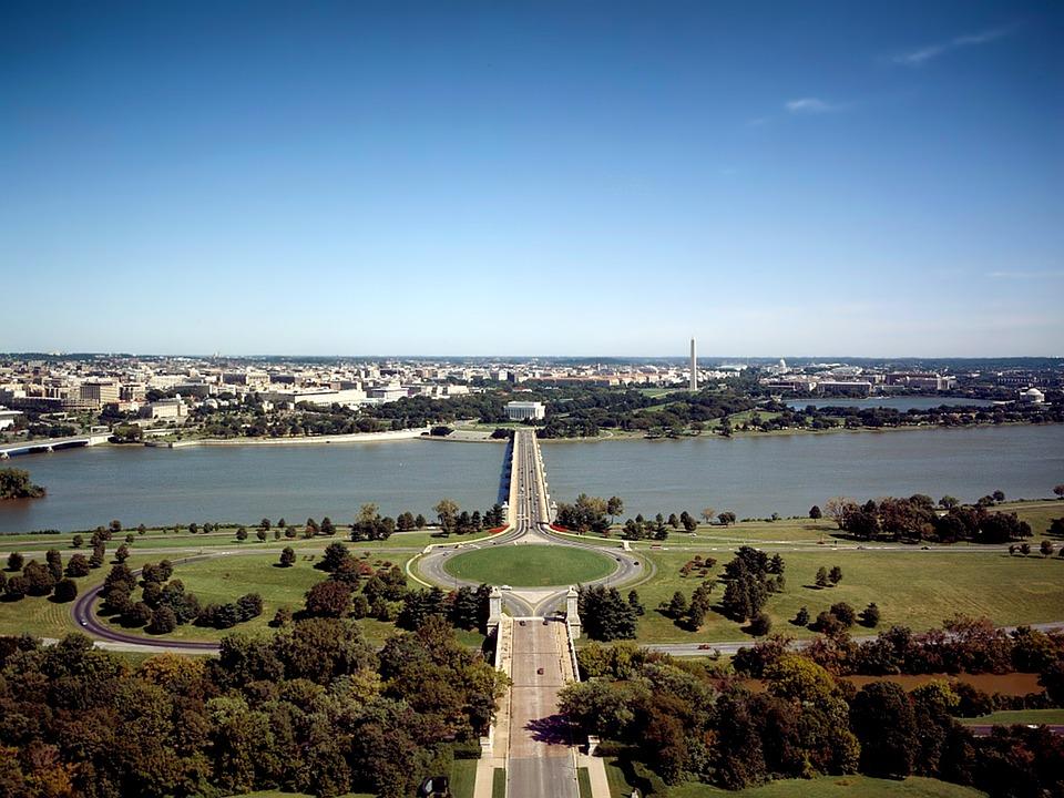 Washington Dc, Memorial Bridge, Potomac River, Water