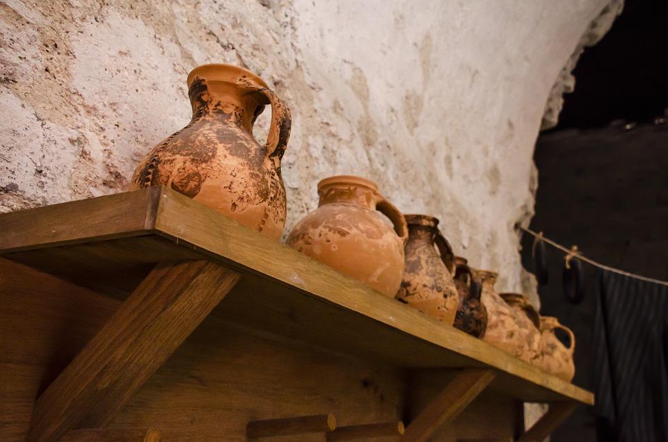 Clay Pots, Pots, Old, Medieval, Jars, Jugs, Antique