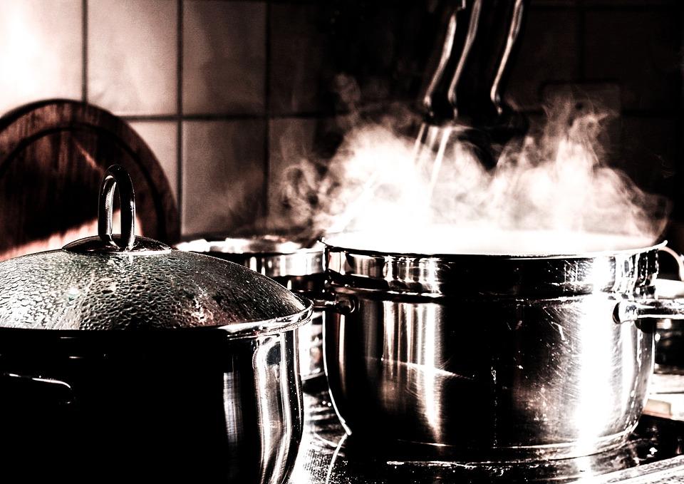 Kitchen, Cook, Pots, Cooking Pot, Steam, Smoke, Eat